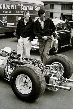 1965-07-30 John Surtees with Mauro Forghieri - 1964 F1 season
