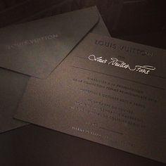 Invitation to Louis Vuitton Spring-Summer 2014 Fashion Show #PFW #RTW #SS14 #LouisVuitton #LV #LVMH via Louis Vuitton