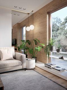 Modern Tropical House, Tropical House Design, Tropical Interior, Modern Miami, Interior Design Living Room, Living Room Designs, Home Living Room, Living Room Decor, Decoration