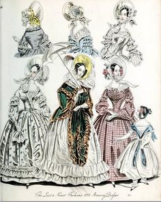 The World of Fashion and Continental Feuilletons 1838 Plate 38 by CharmaineZoe, via Flickr