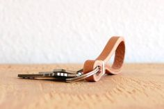Leather Keychain by gildem on Etsy, $12.00