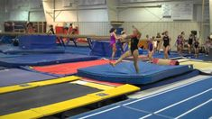 you can only get away with this drill using a tumbletrak lol Recorded on August 2011 using a Flip Video camera. Gymnastics Levels, Gymnastics Lessons, All About Gymnastics, Gymnastics Floor, Gymnastics Tricks, Gymnastics Coaching, Gymnastics Workout, Artistic Gymnastics, Flips Gymnastics