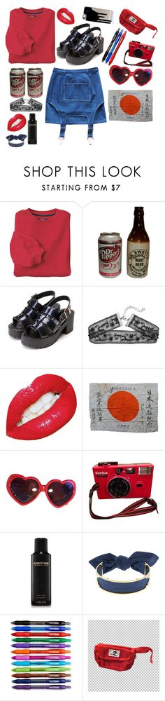 """""""rouge"""" by quill-killin-hoez ❤ liked on Polyvore featuring INC International Concepts, Margarin Fingers, Moschino, Elizabeth and James, Monica Sordo and Paper Mate"""