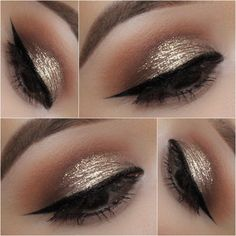 Pixie Dust: This is the new make-up example for the winter – Thoughts Feeds Glitter Eyeshadow Tutorial, Stila Glitter, Makeup Blog, Beauty Makeup, Hair Makeup, Makeup Ideas, Eyeliner Makeup, Makeup Tutorials, Makeup Inspo