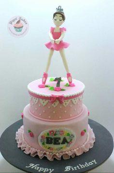 Pretty in Pink Ballerina Theme Cake