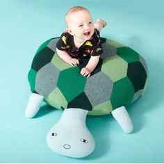 Tortoise Floor Cushion available at The Future Perfect #thefutureperfect @thefutperf