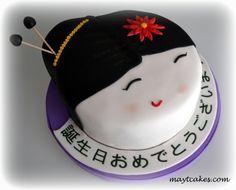 Tarta Geisha - Feliz cumpleaños