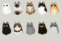 For Sale Siamese Cats Refferal: 9231742113 Stickers Kawaii, Animals And Pets, Cute Animals, Illustration Art, Illustrations, Cat Drawing, Cat Love, Animal Drawings, Cat Art