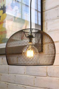 Wire Basket Pendant Light black