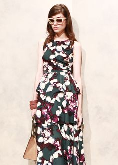 We're green with envy over this layered dress | Banana Republic Spring '16 NYFW Presentation