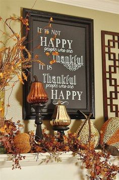 Make the Thanksgiving Day bright and memorable with several interesting home decorations ideas below in the post. Thanksgiving was originally celebrated to thank for the harvest and it is tradition to decorate our houses for the holiday. Thanksgiving Crafts, Thanksgiving Table, Thanksgiving Decorations, Fall Crafts, Seasonal Decor, Holiday Crafts, Holiday Fun, Holiday Decor, Thanksgiving Chalkboard