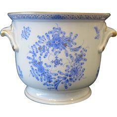 Fine Herend Chinese Bouquet Blue flower pot, ca. 1980