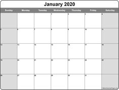 Check January 2020 Calendar Blank, January 2020 Printable Templates, January 2020 Blank Calendar, Blank January Calendar 2020 Templates PDF Notes Word Page Excel Free Printable Calendar Templates, Printable Blank Calendar, Monthly Calendar Template, Print Calendar, Monthly Calendars, Calendar Ideas, January Calendar, Happenings, Pdf