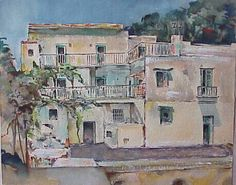 "Casa Alfonso (Praiano) 1955, Unsere ""Ein Stern Pension"", ""Diretore Fritz"" Painting, Art, Art Background, Painting Art, Kunst, Gcse Art, Paintings, Painted Canvas, Art Education Resources"
