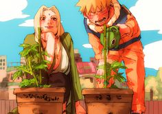Naruto and Lady Tsunade Naruto Uzumaki, Anime Naruto, Anime Yugioh, Art Naruto, Anime Pokemon, Anime W, Naruto Cute, Naruto And Sasuke, Kakashi