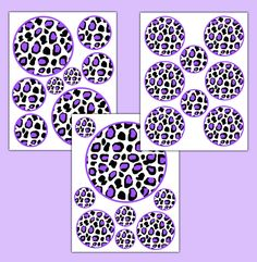 Purple Leopard Animal Print Polka Dot Wall Art Decals Teen Girl Room Stickers #decampstudios