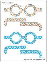 """Acts 8:1-3; 9:1-3; Paul's Conversion & Baptism-Paul's Conversion Eyeglass Craft (Darken the lenses, duplicate & cut-out these glasses. Help children assemble them. A variety of activities can be engaged in while they wear the """"blind"""" glasses.)"""