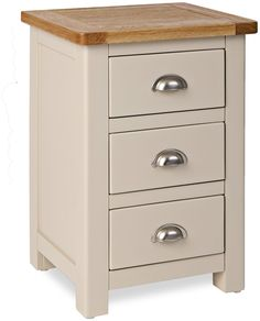 Portland painted small bedside chest finished in stone colour and offered at TRADE PRICE..
