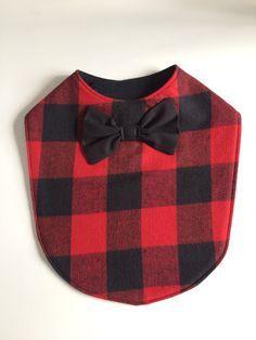 Lumberjack bow tie baby bib, available on Etsy.