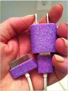 Useful OC: use nailpolish, sharpies, or washi tape on your iPhone charger. No more mixing it up with friends' and families'