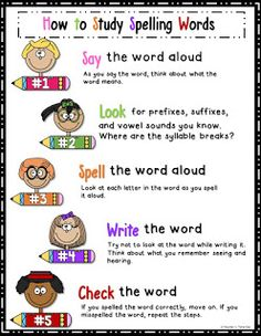 How to Study Spelling Words Spelling Word Practice, Grade Spelling, Spelling Lists, Spelling Activities, Spelling Words, Spelling Ideas, Reading Activities, How To Spell Words, Learn To Spell