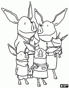 Olivia the Pig Coloring Pages  Olivia the Pig Coloring Pages 9