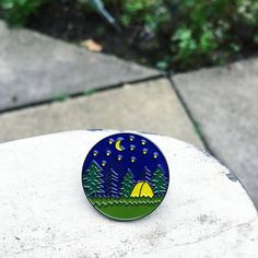 diameter hard nickel pin with clutch. Perfect for adding something unique to jackets, hats, bags etc Made in Britain ©Charis Raine Illustration 2018 Parks Canada, Cute Pins, Lapel Pins, Pin Collection, Illustration, Original Paintings, Rain, Camping, Etsy Shop