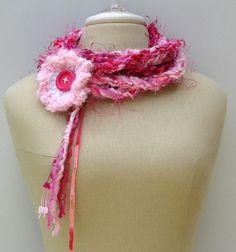 Introductory price Flower Cowl Gypsy Braids Infinity Scarf Fiber by PurpleSageDesignz, $ 15.00