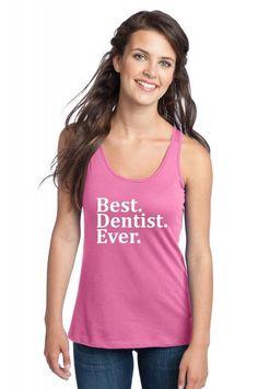 best dentist ever t shirt design 1 Racerback Tank