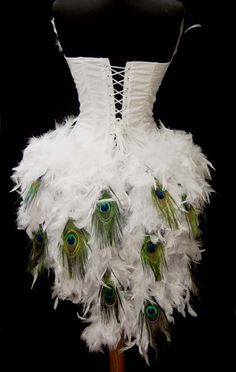 Peacock mask | White Moulin Showgirl Peacock Rouge Burlesque Costume L | eBay