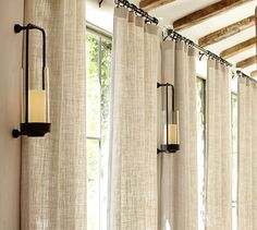 awesome Beautiful Belgian Linen Drapes 42 With Additional Hme Designing Inspiration with Belgian Linen Drapes Living Room Drapes, Bedroom Drapes, Design Living Room, Coastal Living Rooms, Living Room Windows, House Windows, Curtain Ideas For Living Room, Living Room Window Treatments, Farmhouse Window Treatments