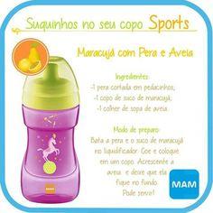 Suco de Maracujá com Pera e Aveia