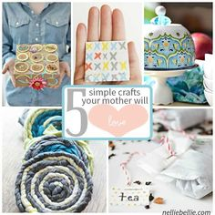 Do it your self Mother's Day Gifts she is sure to love. These are all simple to make and easy to gift. go make these 5 different ideas to make this Mother's day memorable. #mothersday #DIYgifts Simple Gifts, Easy Gifts, Unique Gifts, Mothers Day Crafts, Mother Day Gifts, Diy Tea Bags, Homeade Gifts, Quick And Easy Crafts, How To Make Tshirts