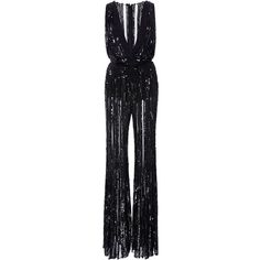 366c8c6138f Elie Saab Sleeveless Flare Embroidered Jumpsuit With Deep V-Neck