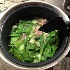 Thai pork meatball noodle soup