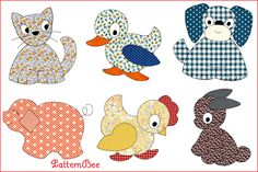 APPLIQUE ANIMAL SPREAD #CQ693