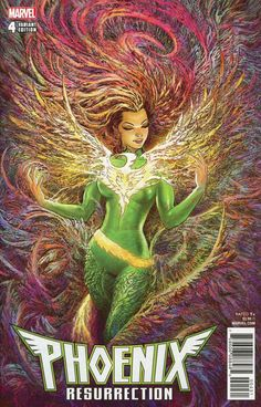 COMIC BOOK: Phoenix Resurrection: The Return Of Jean Grey # 4 (Cover D Incentive Variant). PUBLISHER: Marvel Comics. WRITER(S) Matthew Rosenberg. ARTIST: Ramon Rosanas. COVER ARTIST: Mukesh Singh ORIGINAL RELEASE DATE: 1 / 24 / 2018. COVER PRICE: $3.99. RATING: Teen +.