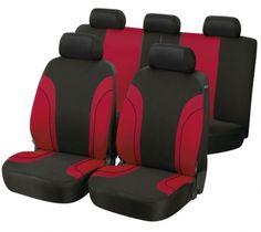 Autositzbezug Paris rot/schwarz