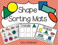 Shape Sorting Mats (Autism and Special Education) - Use object pictures to help students apply their shape knowledge!