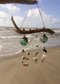 Seashell and Genuine Sea Glass Wind Chime