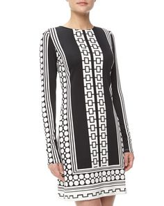 Morgan Mixed Print Jersey Dress, Moonstone by JB by Julie Brown at Neiman Marcus Last Call.