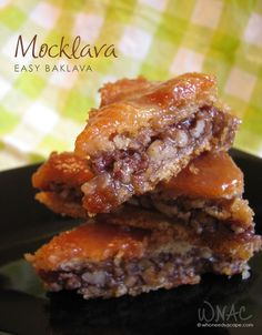Mocklava (Easy Baklava) made with Pillsbury Crescent Roll dough