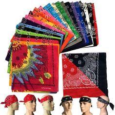New Hot Bandana Paisley Printed Handkerchief Mask Scarf Face Head Wrap Scarf  Shawl Fashion Women Men 184a94a6d3e