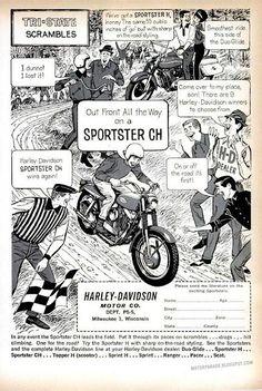 Vintage Brochures: Harley Davidson Sportster CH 1962 (Usa)