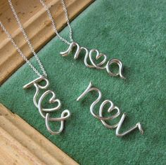 Couple initials necklace.  I probably need this for me and Gav ;)