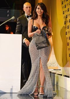 Kim Kardashian in Ralph & Russo Couture, Atsuko Kudo bustier and Tom Ford sandals – 2014 GQ Men of the Year Awards