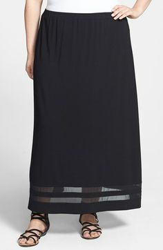 Vince Camuto Maxi Skirt (Plus Size) available at #Nordstrom