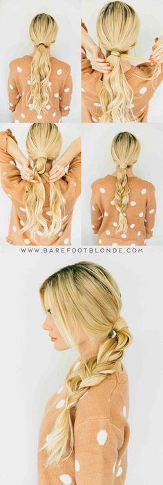 Hairstyle // Gorgeous braided hair DIY.