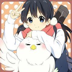 Anime picture 1000x1000 with  tamako market kitashirakawa tamako dera mochimazzui aya (aya311neko-nyanyanya) girl long hair ...