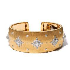 Buccellati gold and diamond cuff